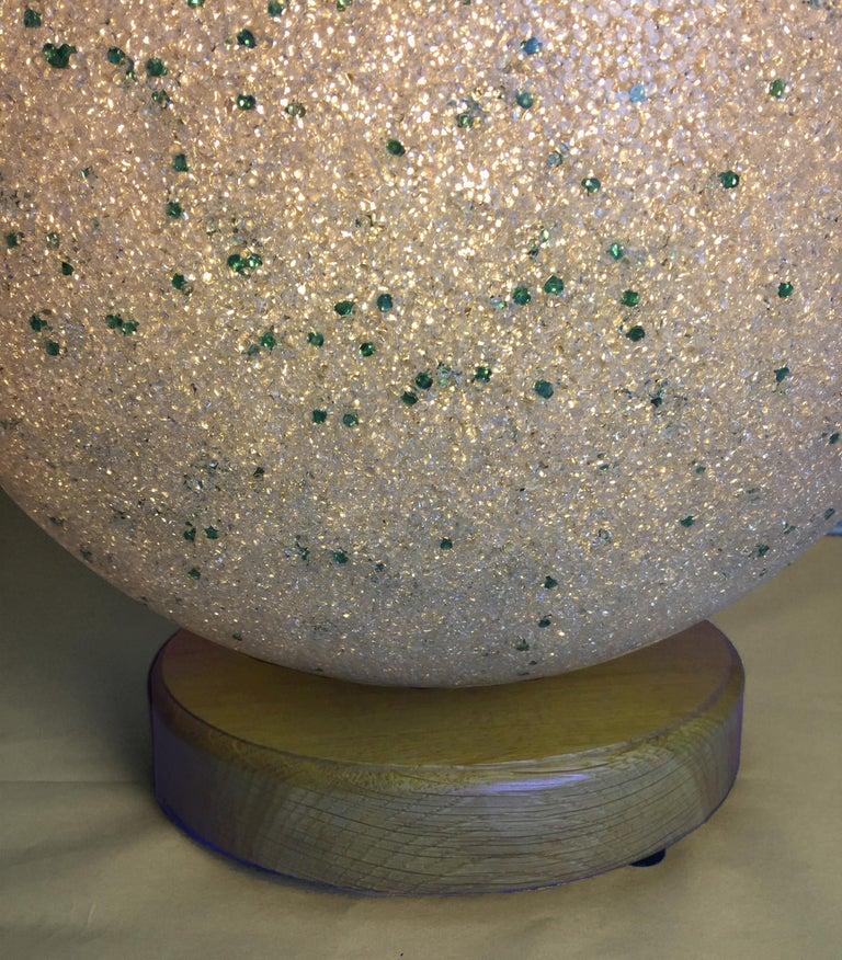 Mid-Century Modern Pate de Verre Table Lamp For Sale