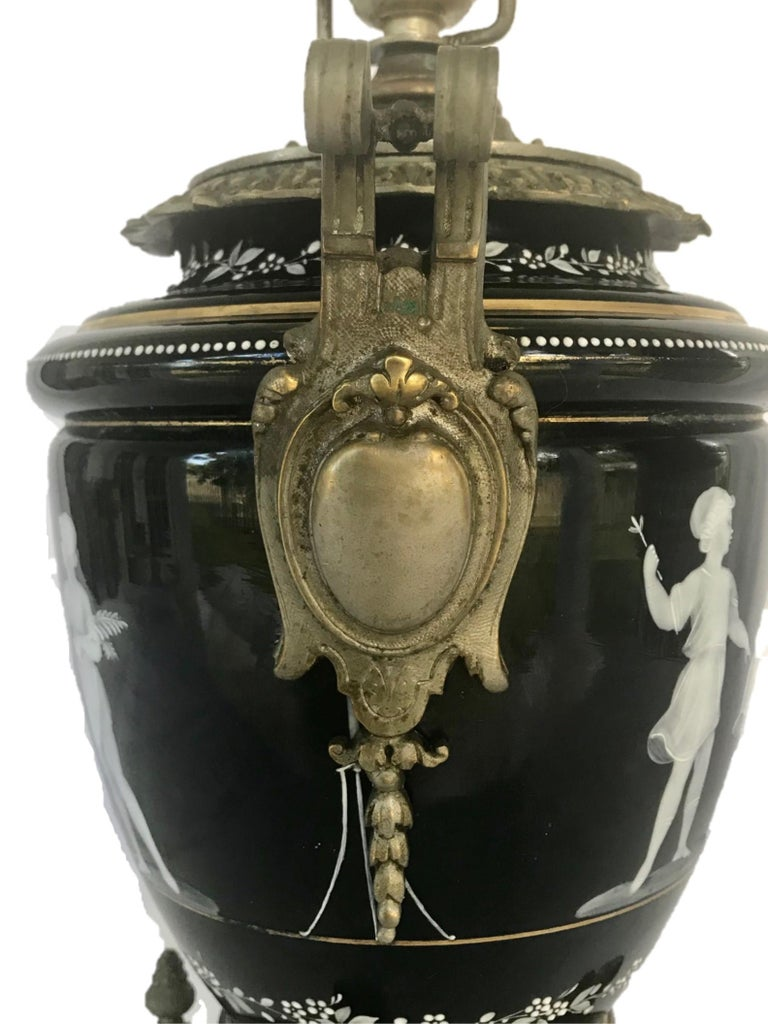 Pate-Sur-Pate Porcelain Table Lamp with Bronze Mount For Sale 1