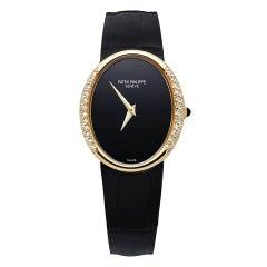 Patek Philip Golden Ellipse Diamond Ladies Watch Oval Case