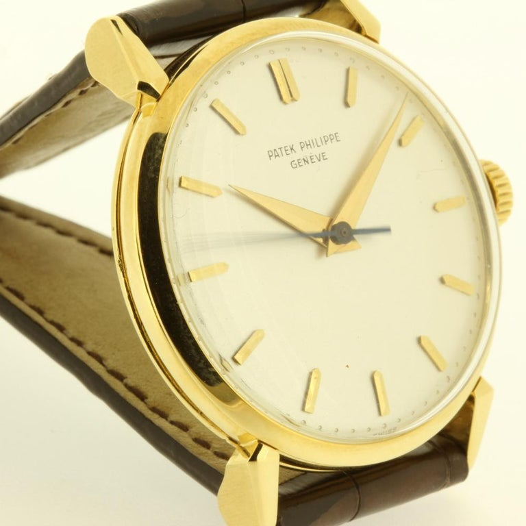 Modern Patek Philippe 1578J Large Vintage Calatrava Watch, circa 1955 For Sale
