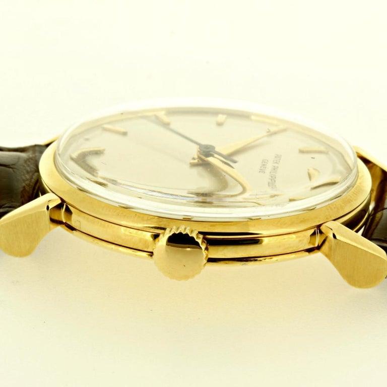 Women's or Men's Patek Philippe 1578J Large Vintage Calatrava Watch, circa 1955 For Sale