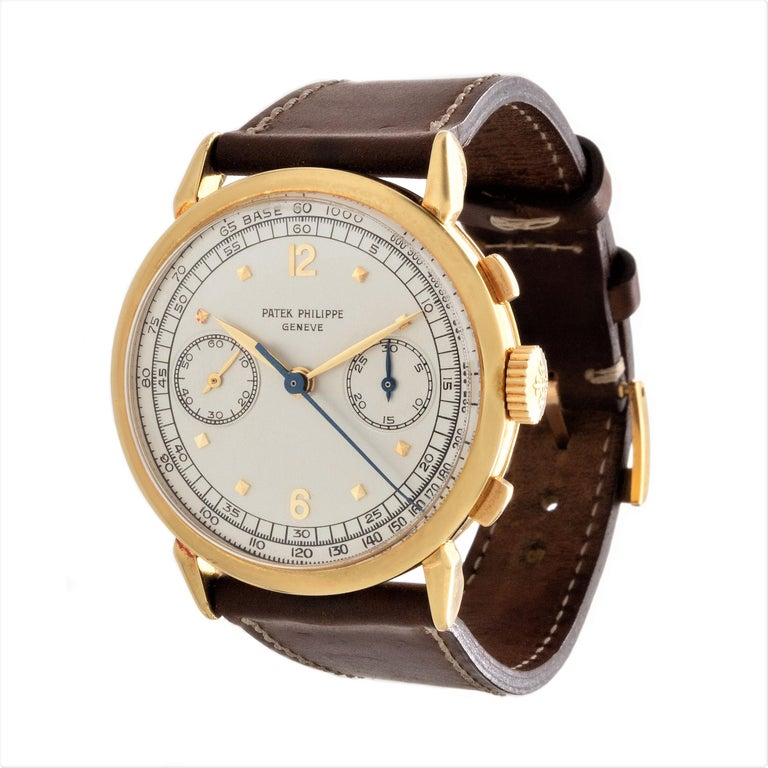 Patek Philippe 1579J Chronograph Oversized Large Watch, circa 1951 For Sale 5