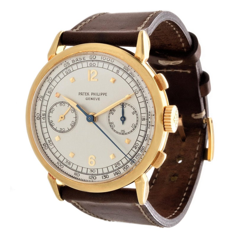 Patek Philippe 1579J Chronograph Oversized Large Watch, circa 1951 For Sale 1