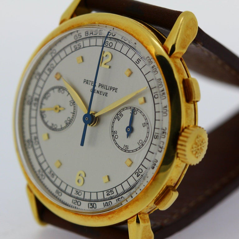 Patek Philippe 1579J Chronograph Oversized Large Watch, circa 1951 For Sale 2