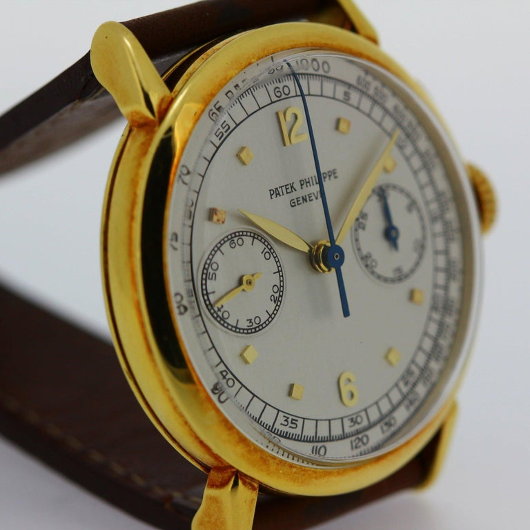 Patek Philippe 1579J Chronograph Oversized Large Watch, circa 1951 For Sale 3