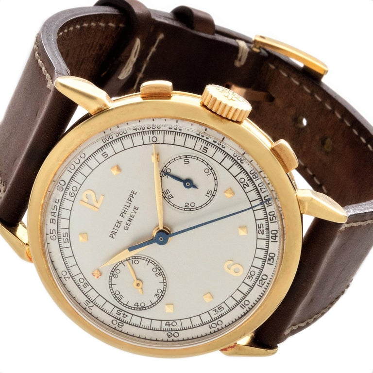 Patek Philippe 1579J Chronograph Oversized Large Watch, circa 1951 For Sale 4