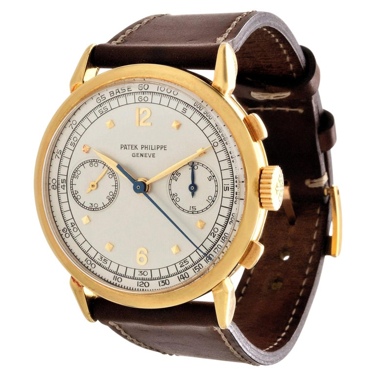 Patek Philippe 1579J Chronograph Oversized Large Watch, circa 1951 For Sale