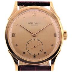 Patek Philippe 1589R Vintage Rose Gold Calatrava Watch, circa 1954
