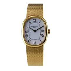 Patek Philippe 18 Karat Gold Bracelet Watch with Original Dial, circa 1970s