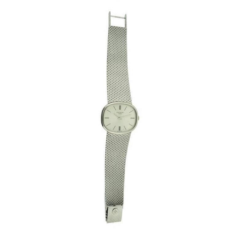 Patek Philippe 18 Karat White Gold Bracelet Watch from 1971 For Sale 2