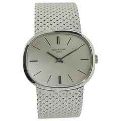 Patek Philippe 18 Karat White Gold Bracelet Watch from 1971