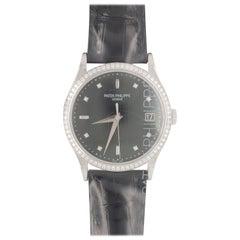 Patek Philippe 18 Karat White Gold Calatrava Wristwatch 5297G-retail $39,500