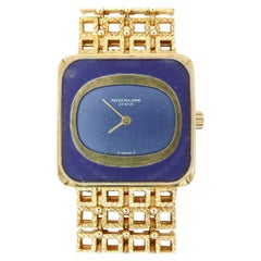 Patek Philippe 18 Karat Yellow Gold and Lapis Dial
