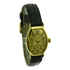 Patek Philippe 18 Karat Yellow Gold Art Deco Gondolo Watch, circa 1920s