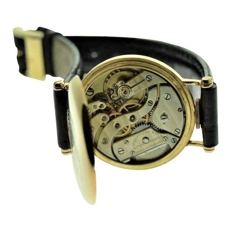 Patek Philippe 18 Karat Yellow Gold Art Deco Wristwatch, circa 1905 For Sale 6