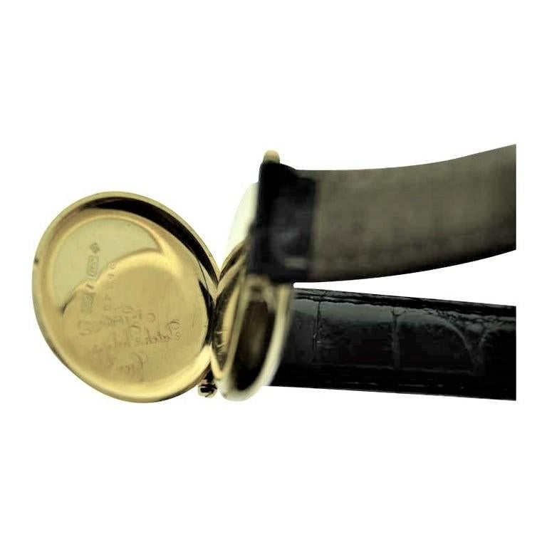 Patek Philippe 18 Karat Yellow Gold Art Deco Wristwatch, circa 1905 For Sale 7