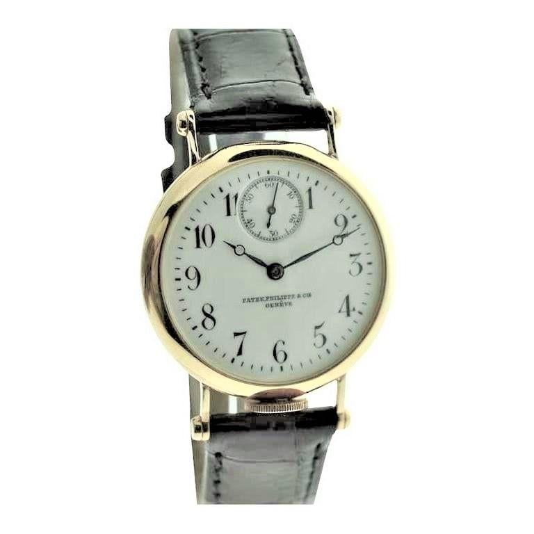 Patek Philippe 18 Karat Yellow Gold Art Deco Wristwatch, circa 1905 In Excellent Condition For Sale In Venice, CA