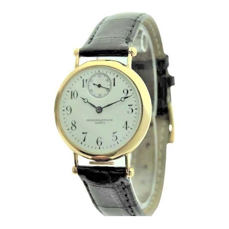Women's or Men's Patek Philippe 18 Karat Yellow Gold Art Deco Wristwatch, circa 1905 For Sale