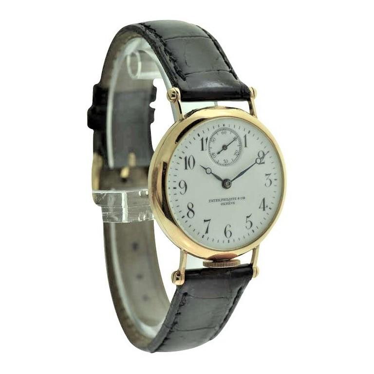 Patek Philippe 18 Karat Yellow Gold Art Deco Wristwatch, circa 1905 For Sale 2