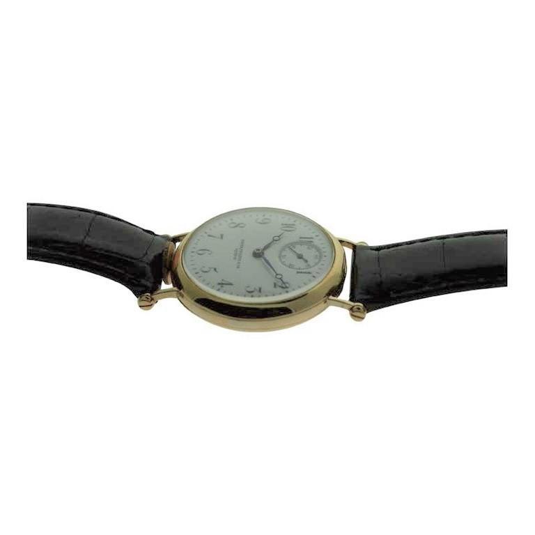 Patek Philippe 18 Karat Yellow Gold Art Deco Wristwatch, circa 1905 For Sale 4