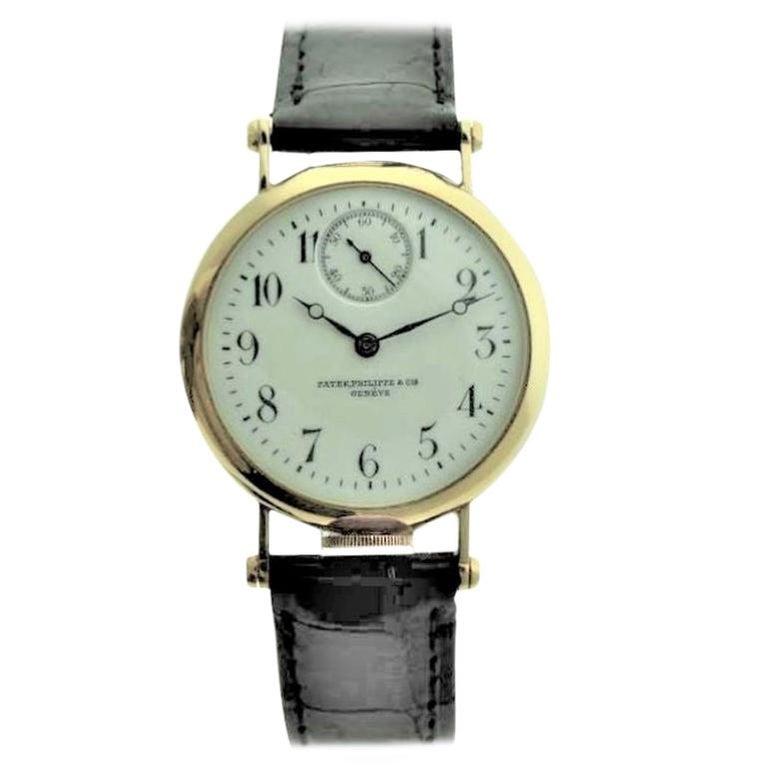 Patek Philippe 18 Karat Yellow Gold Art Deco Wristwatch, circa 1905 For Sale