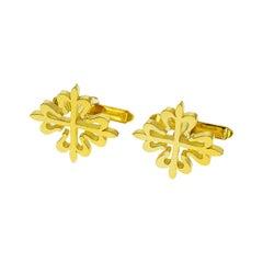 Patek Philippe 18 Karat Yellow Gold Calatrava Gold Cufflinks