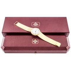 Patek Philippe 18 Karat Yellow Gold Calatrava Men's Quartz Watch with Box 3954