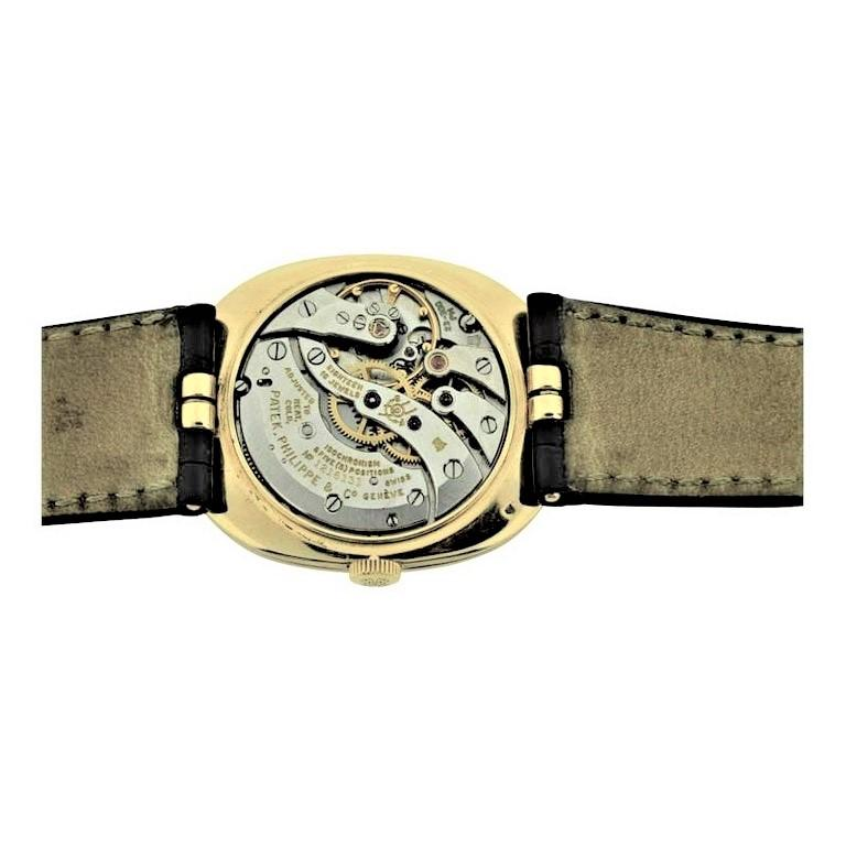 Patek Philippe 18 Karat Yellow Gold Ellipse Model with Original Strap and Buckle For Sale 4