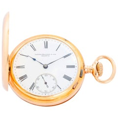 Patek Philippe 18 Karat Yellow Gold Hinge Pocket Watch