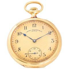 Patek Philippe 18 Karat Yellow Gold Pocket Watch