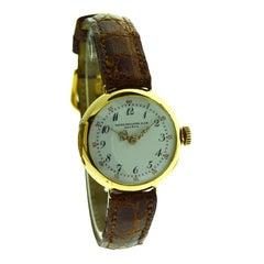 Patek Philippe 18 Karat Yellow Gold Wrist Watch, circa 1900s with Original Dial