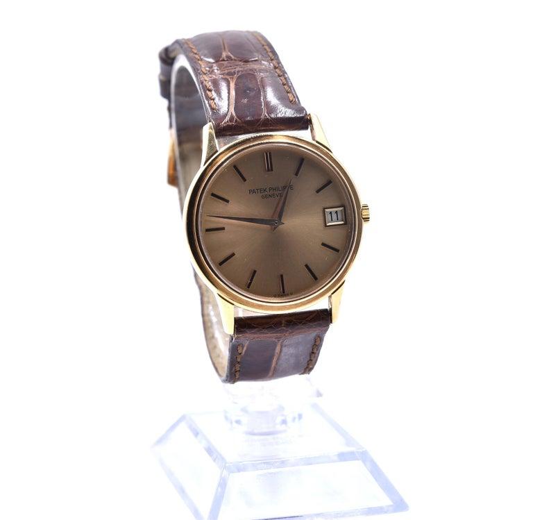 Men's Patek Philippe 18 Karat Rose Gold Calatrava Watch Ref. 3601 For Sale