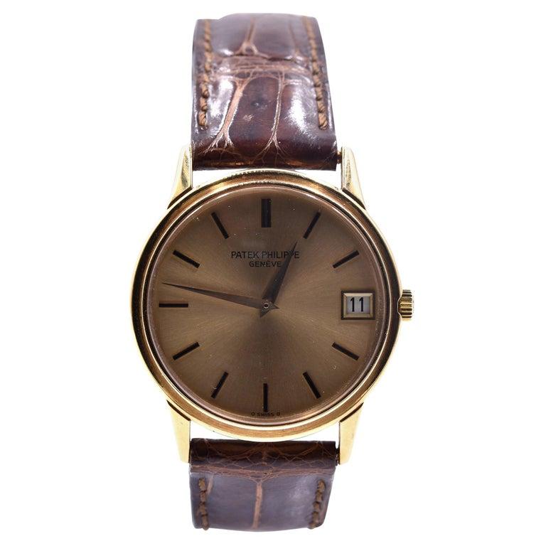 Patek Philippe 18 Karat Rose Gold Calatrava Watch Ref. 3601 For Sale