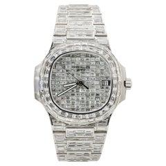 Patek Philippe 18k White Gold All Diamond Chandelier Wrist Watch