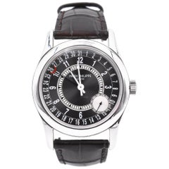 Patek Philippe 18 Karat White Gold Calatrava Automatic Watch Ref. 6000G
