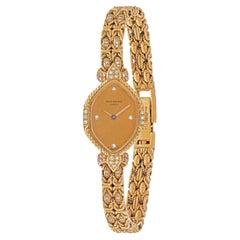 Patek Philippe 18K Yellow Gold 1970's Ref 4582/001 Diamond Bracelet Ladies Watch