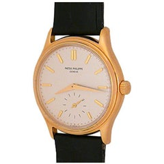 Patek Philippe 18k Yellow Gold Calatrava Manual Wristwatch Ref 3923