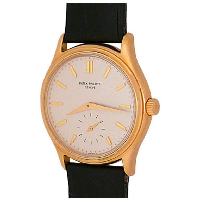 Patek Philippe 18k Yellow Gold Calatrava Manual Wristwatch Ref 3923