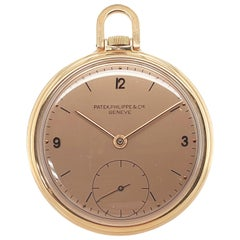 Patek Philippe 18kt Pink Gold Opened-Faced Pocket Watch like Ref 866