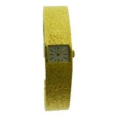 Patek Philippe 18 Karat Gold Bracelet Watch circa 1970s with Original Dial
