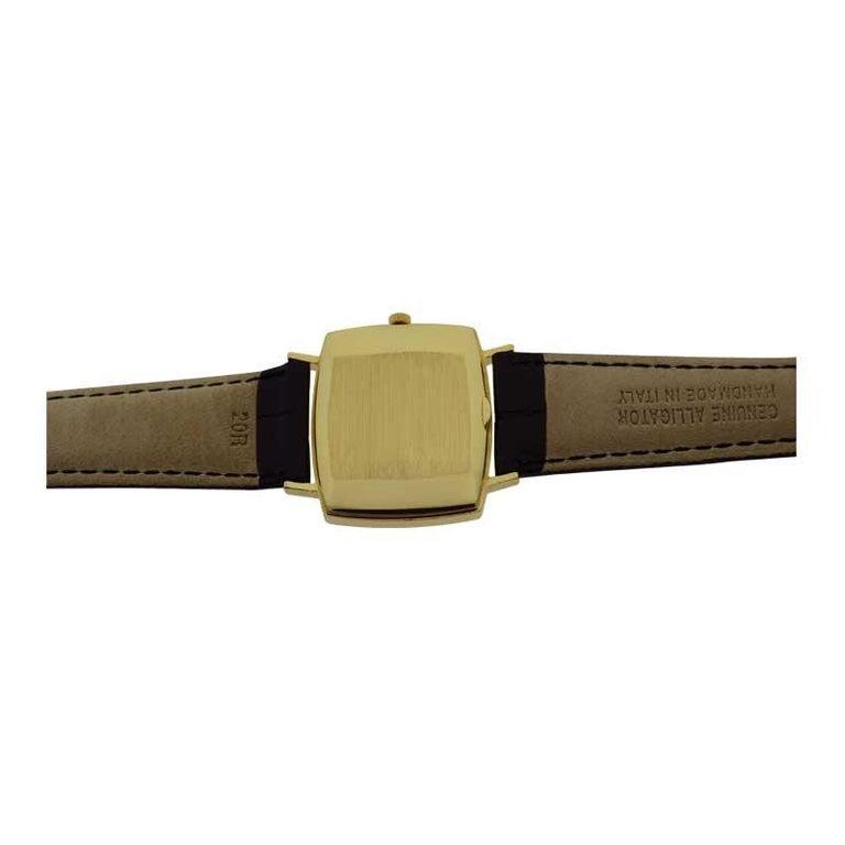 Patek Philippe 18 Karat Yellow Gold Cushion Shaped Watch, circa 1960s For Sale 3