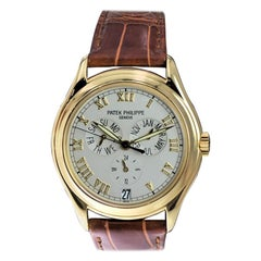 Patek Philippe 18 Karat Yellow Gold Ref. 5035 with Original Papers Just Serviced
