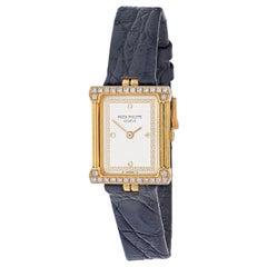 "Patek Philippe 18KYellow Gold ""Les Greques"" REF4632 Rectangular Men's Wristwatch"