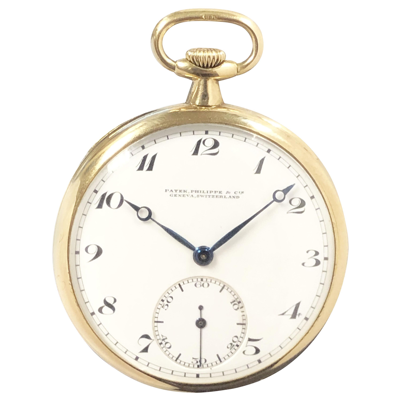 Patek Philippe 1920s Yellow Gold Mechanical Pocket Watch