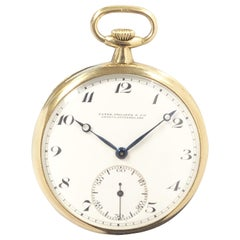 Patek Philippe 1920s Yellow Gold Mechanical Pocket Watch