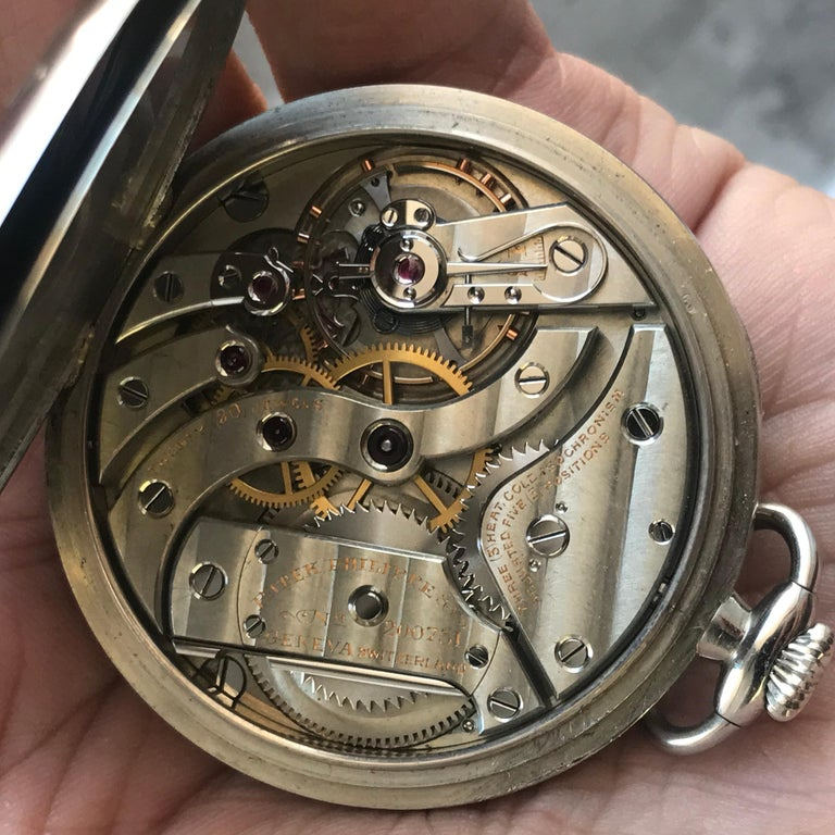 A Very Clean 6x Signed Patek Philippe & Co Solid 18k Gold Pocket Watch Very High Grade 18 Jewel Nickel Movement Is Fully Signed  Cased In Its Original, Signed & Serialized Factory Case, Complete With Original Box And Papers, Along With Small Leather
