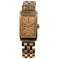 Patek Philippe 1940s Rose Gold Gents Mechanical Bracelet Wristwatch