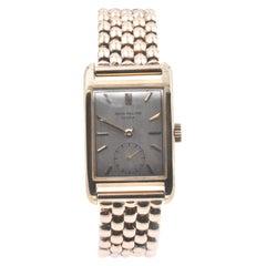 Patek Philippe 1950s 18 Karat Yellow Gold Rectangle Watch