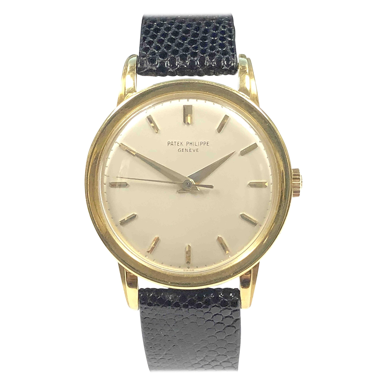 Patek Philippe 1950s Ref 2481 Yellow Gold oversize Manual wind Wristwatch