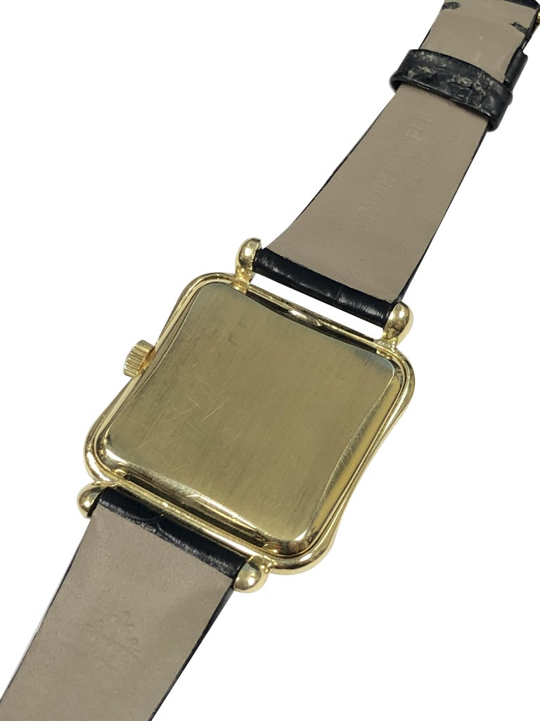 Women's or Men's Patek Philippe 1950s Ref 2493 Large Yellow Gold Mechanical Wristwatch For Sale